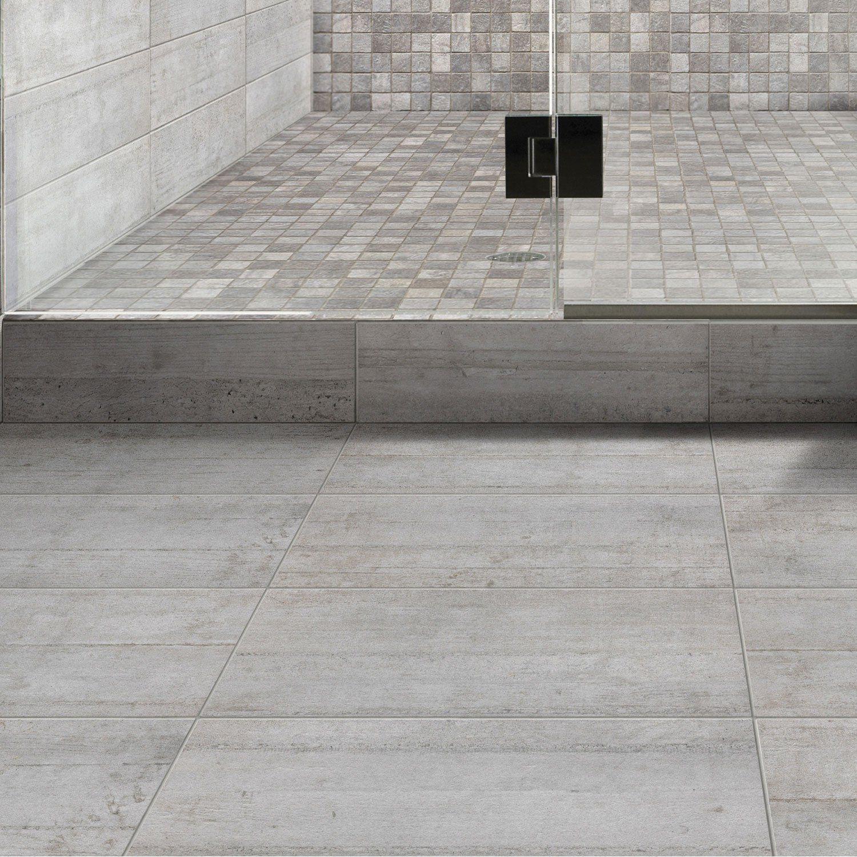 Carrelage Mural Industry Premium En Gres Gris 15 X 60 Cm Leroy