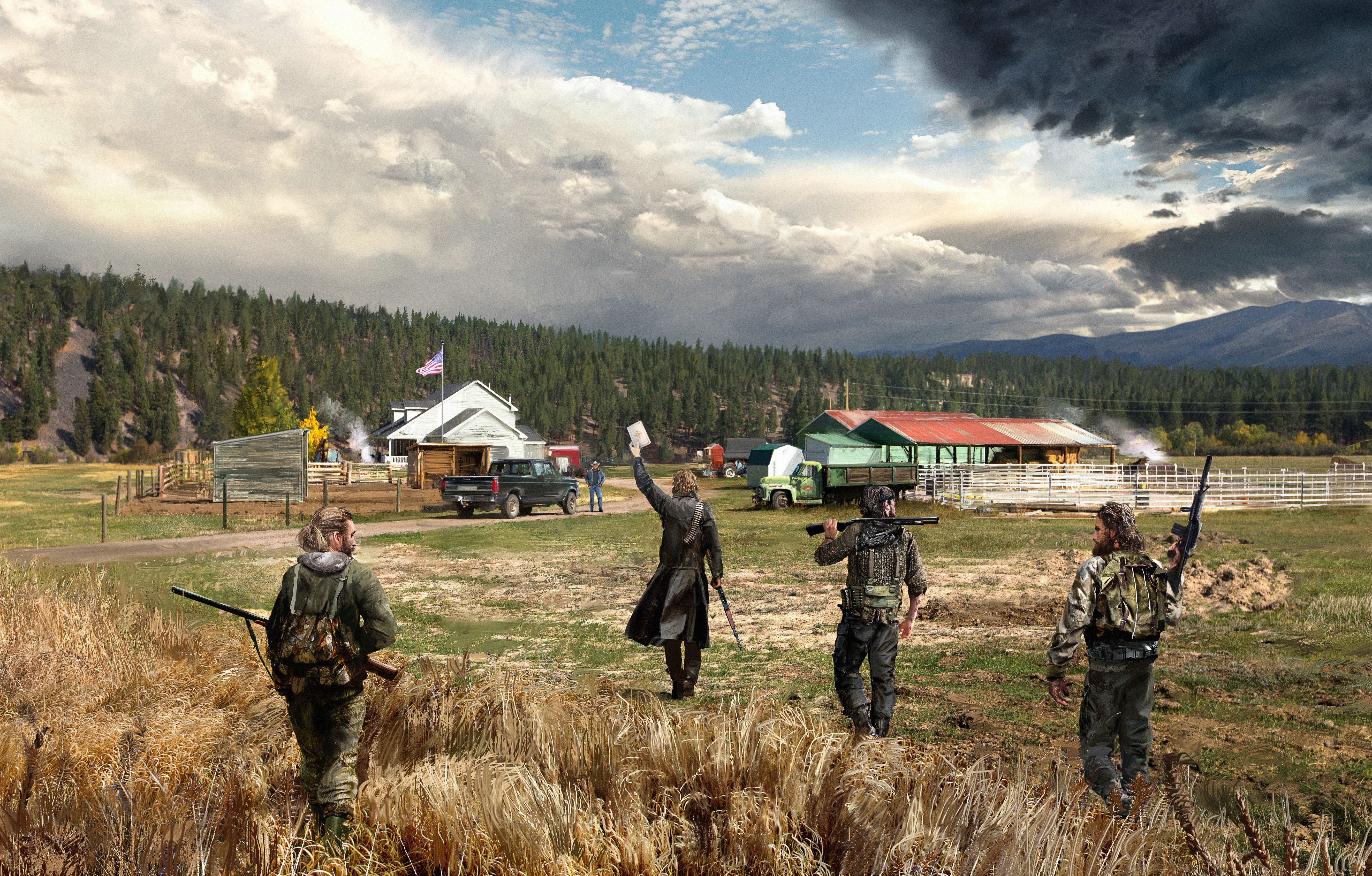 Far Cry 5 The Resistance Character Trailers Http Dpadjoy Com 2017 05 29 Far Cry 5 The Resistance Character Trailers Far Cry 5 Background Images Ubisoft