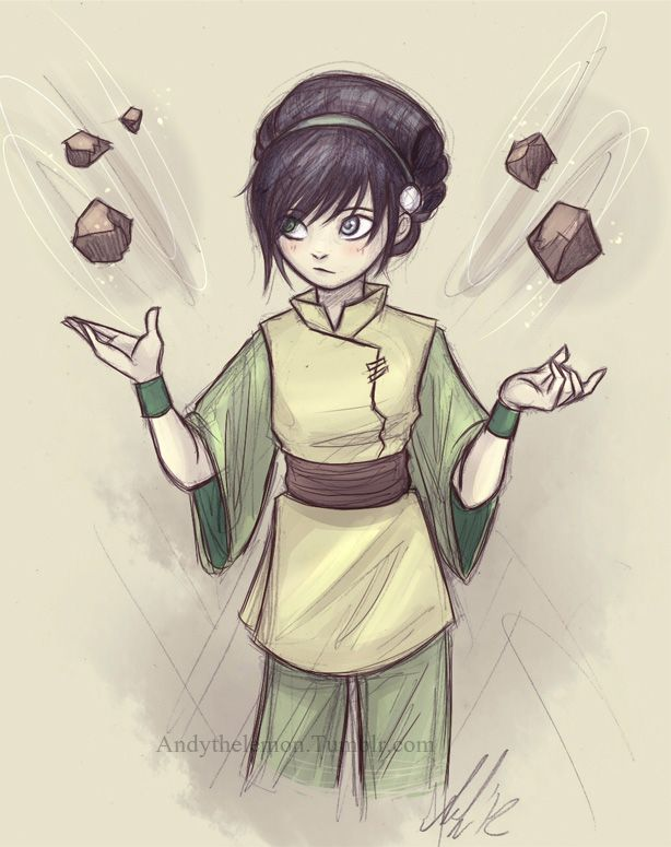 Toph, earthbending rocks. | Avatar: The Last Airbender | Pinterest ...