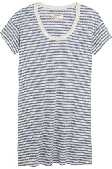 34e416590ba13 Blue and cream jersey Slips on 50% polyester, 38% cotton, 12% rayon Machine  wash Designer color: Anchor Stripe