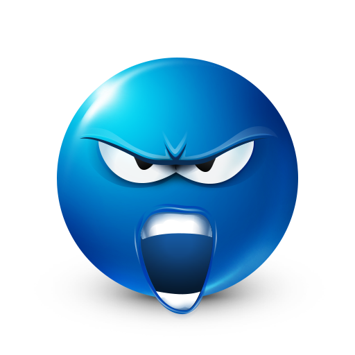 Rage Smiley Funny emoji faces, Smiley, Blue emoji
