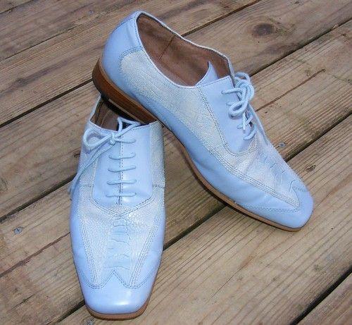89c43eebbf4bc Giorgio Brutini, Men`s Oxford, Dress Shoes, Formal, Light Blue, size 7.5