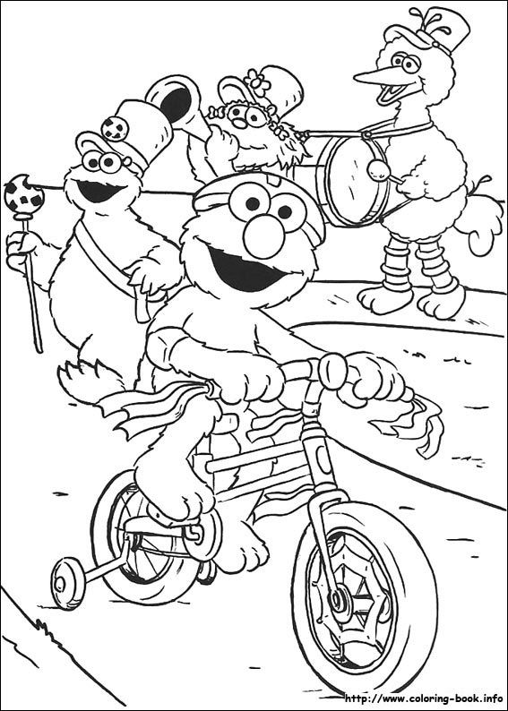 Sesame Street Gang Coloring Pages sesame street coloring pages on ...