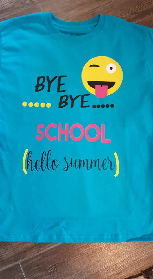Beautiful FREE SHIPPING***Bye Bye School, End Of Year Shirt, Summer,