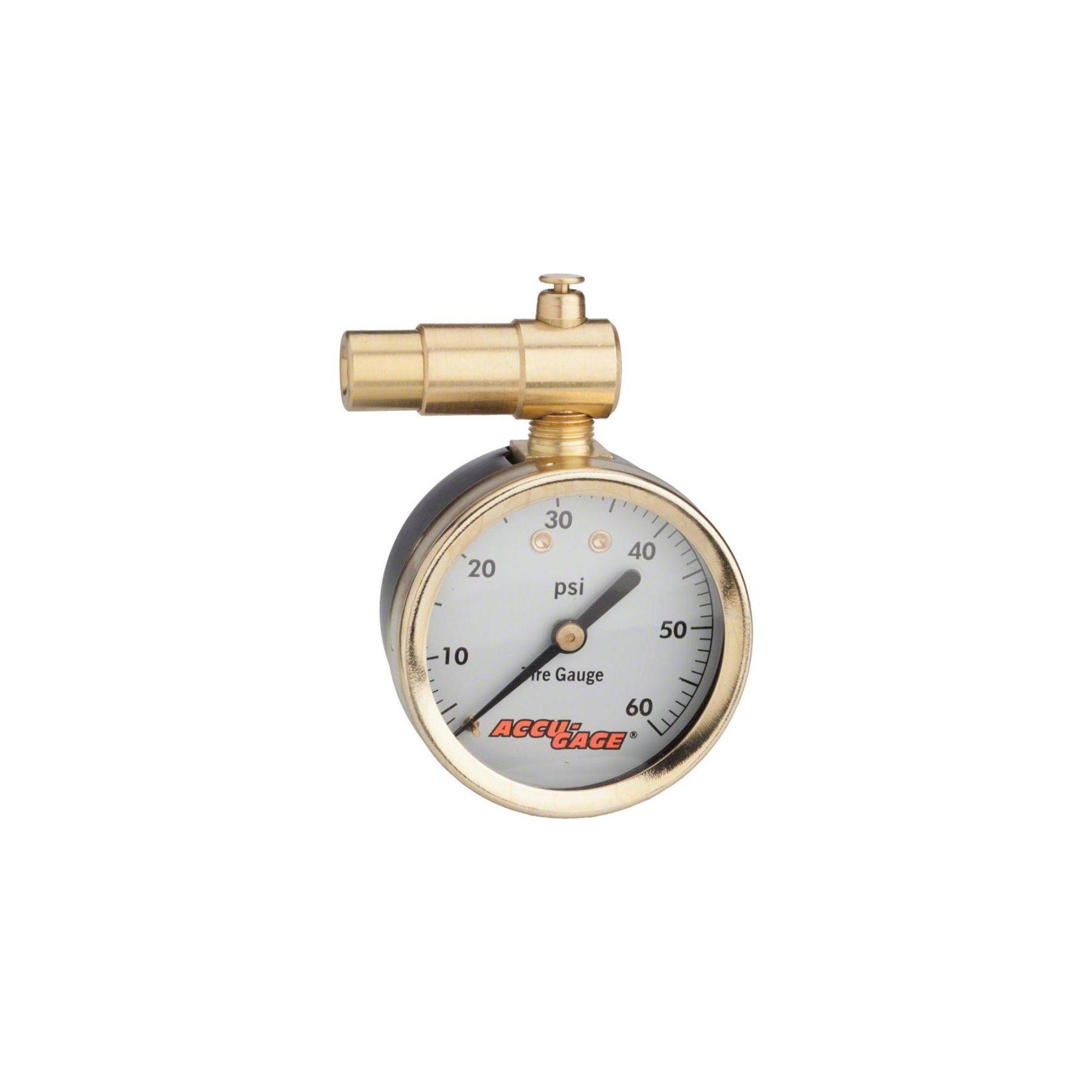 Meiser Presta-Valve Dial Gauge with Pressure Relief 60psi