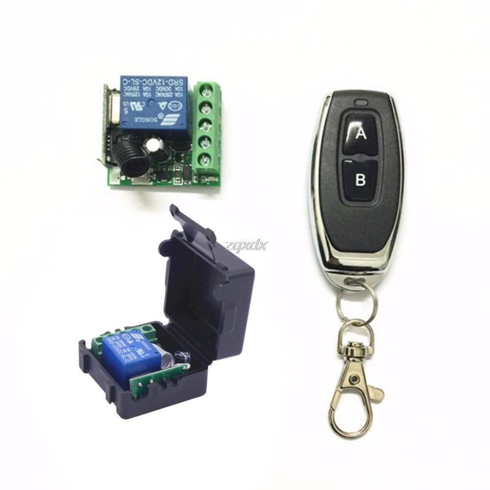 433mhz Universal Wireless Remote Control Switch Dc 12v 1ch Relay Receiver Module Us 2 97 Consumer Electronics Remote Control Wireless