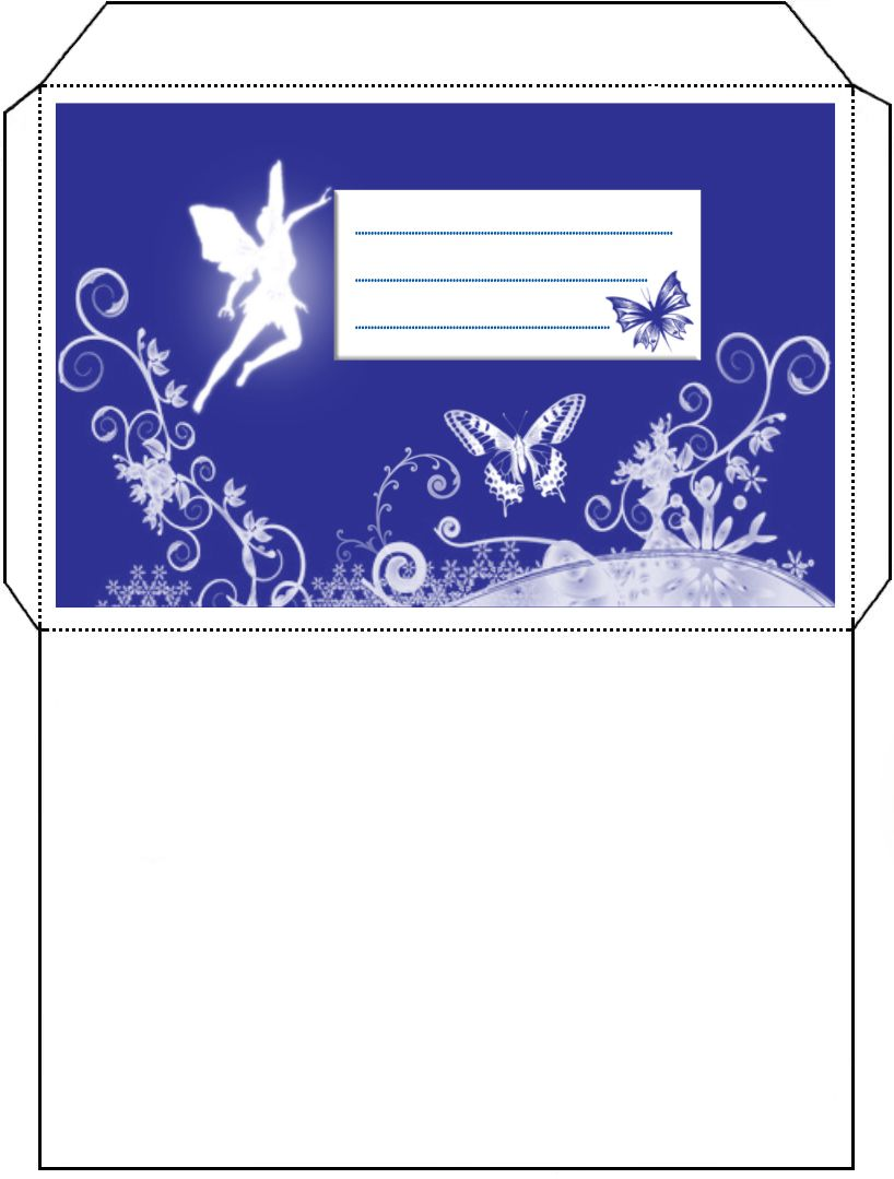 Fairy Envelope Free Printable Stationery Tooth Fairy Templates