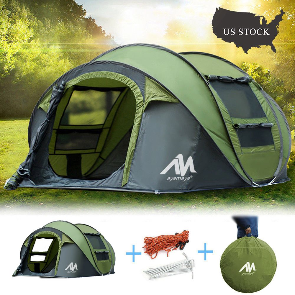Free 2 Day Shipping Buy 3 4 Person Instant Pop Up Tents Iclover Auto Dome Shelter Automatic Easy Up Fast Tent With Carry In 2020 Hiking Tent Tent Camping Pop Up Tent