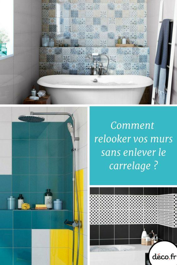 Comment rénover les murs du0027une salle de bains sans enlever le - enlever carrelage salle de bain