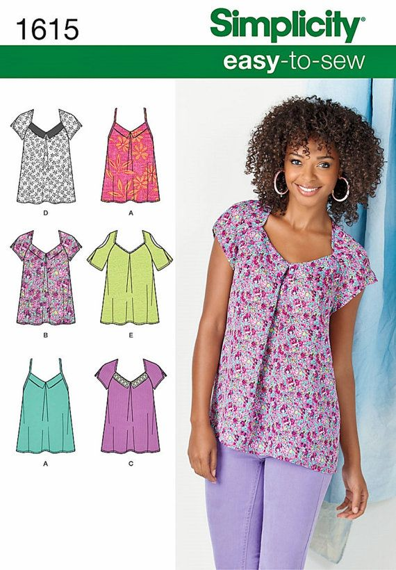 802aa1684 Easy Pullover Tops Pattern