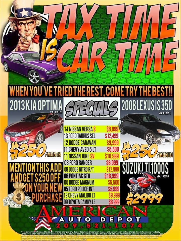 Tax time is car time modesto tax time is just around the