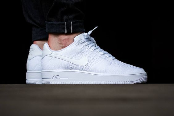 Nike Whites Out The Air Force 1 Ultra Flyknit Low