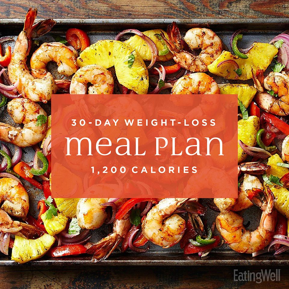 Simple 30-Day Weight-Loss Meal Plan: 1,200 Calories images