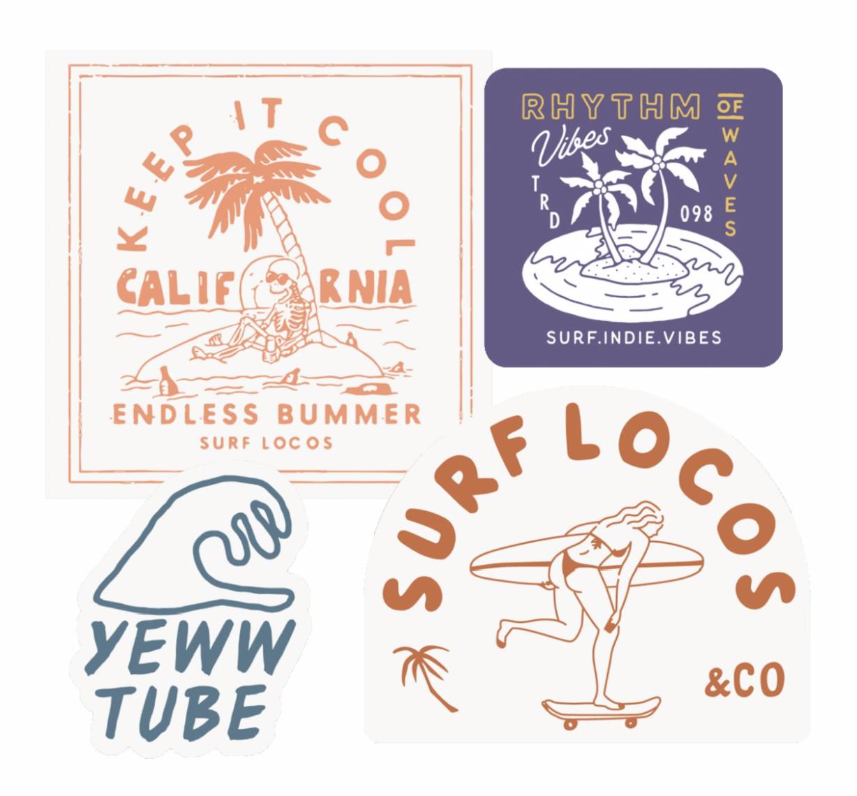Sticker Pack Brand Stickers Surf Stickers Sticker Design [ png ]