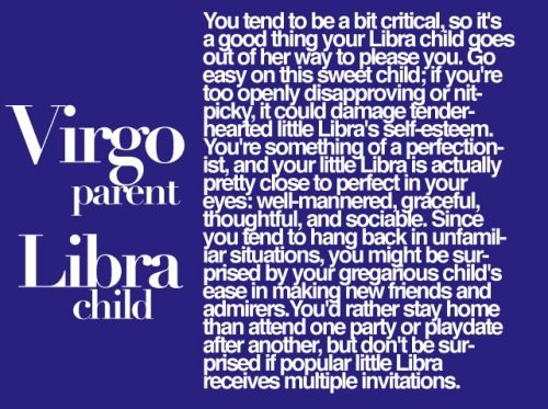 What are the characteristics of a Libra child?