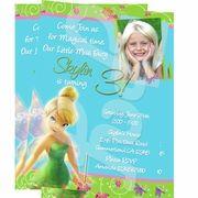 Tinkerbell Personalized Invitations custom