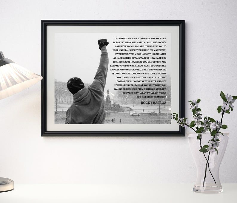 Rocky Balboa Poster, Rocky Speech quote, Movie Poster, Inspirational Poster, Motivational Poster, Rocky Balboa Poster, Rocky Balboa