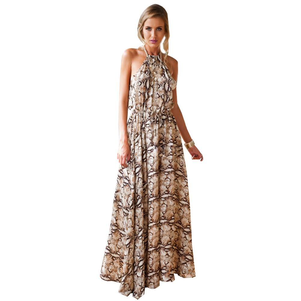 Click to buy ucuc summer style print maxi dress summer dress