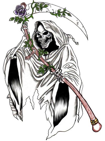 b378fb1db grim reaper tattoos | Grim Reaper Tattoos Designs- High Quality Photos and  Flash Designs of .