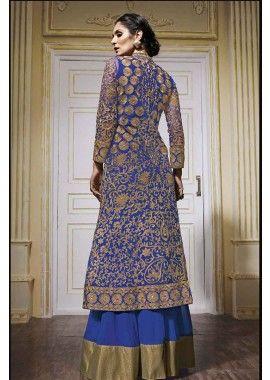Blue Net Anarkali Suit, - £124.00, #IndianDress #AnarkaliSuit #Fashion #AnarkaliSuit UK #Shopkund