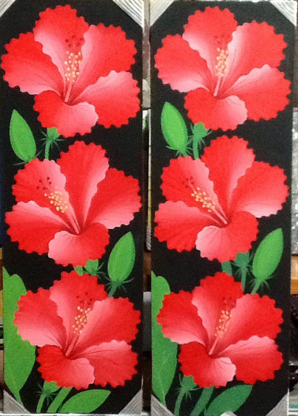 Gambar Bunga Sepatu Yang Lukisan Bunga Kembang Sepatu Simbol Kelimpahan Royalti Set Of 2 A Batik Bunga Sepatu 14 Manfaat Gambar Bunga Bunga Kembang Sepatu