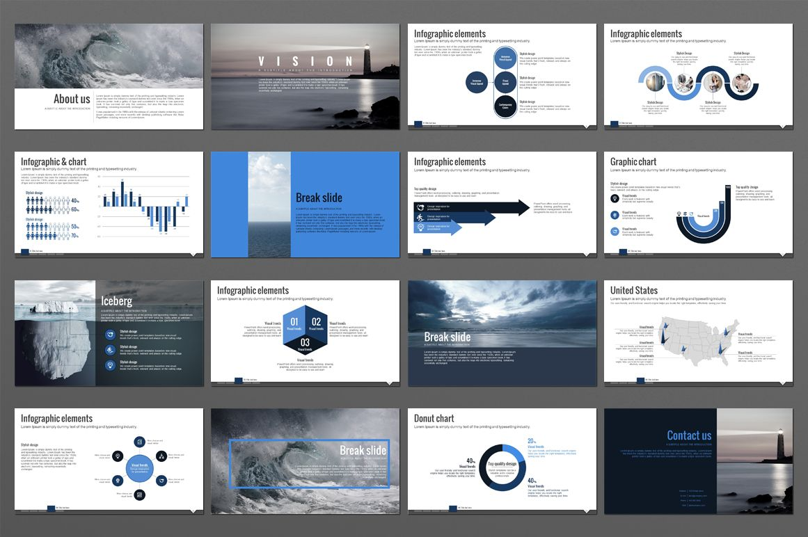 Wave Powerpoint Presentation Design Presentation Presentation Templates