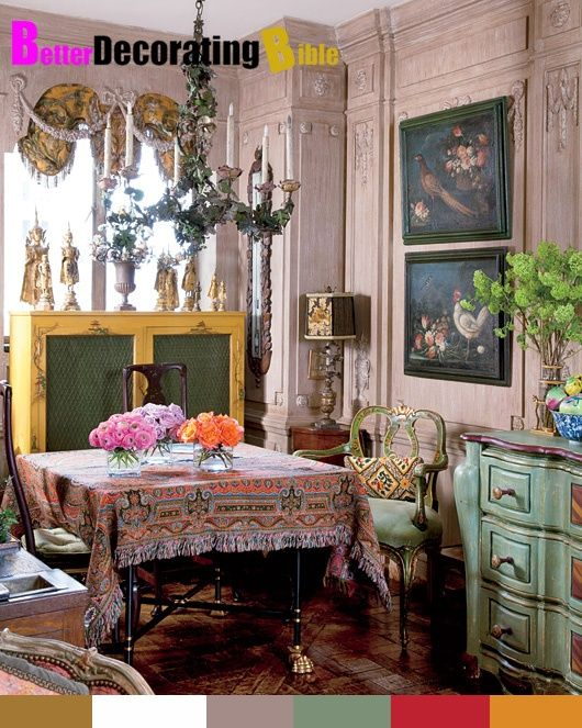 Bohemian style dining room iris barrel apfel 39 s new york for Bohemian dining room decorating ideas