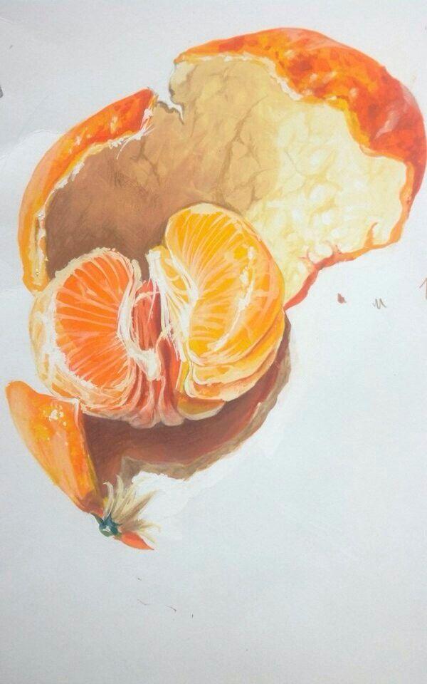 mandarin painting mandarin tangerine painting. Black Bedroom Furniture Sets. Home Design Ideas
