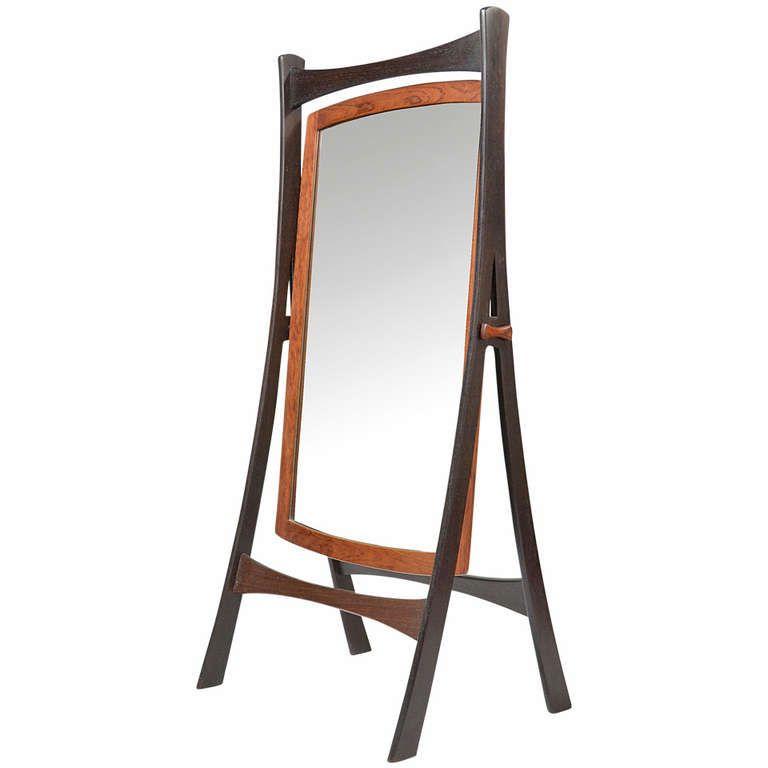 Danish Wenge and Teak Cheval Dressing Mirror | Dressing mirror ...