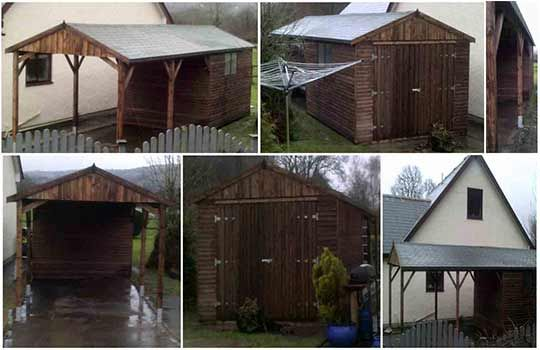 Timber garage and wooden carports for your garden For more - construire un garage en bois m