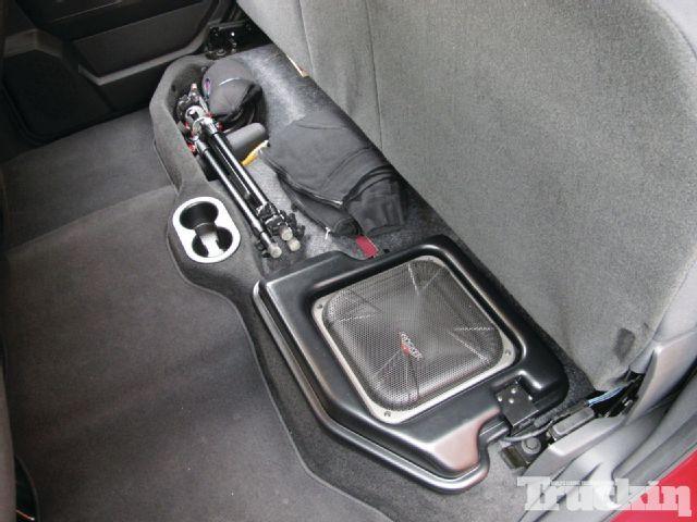 Kicker Powerstage Subwoofer Install Cover Photo Dodge Ram 1500 Accessories Subwoofer Custom Subwoofer Enclosure