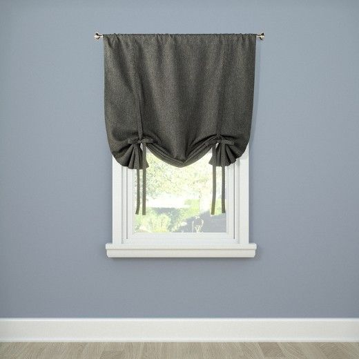 Heathered Tie Up Window Shade Tan 42x63