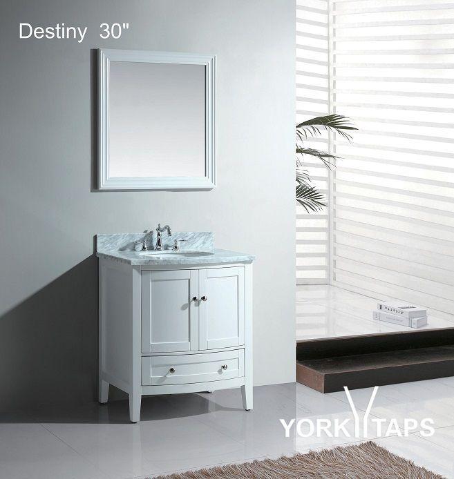 """Destiny 30"""" Bathroom Vanity White: Home Decor Store ..."""