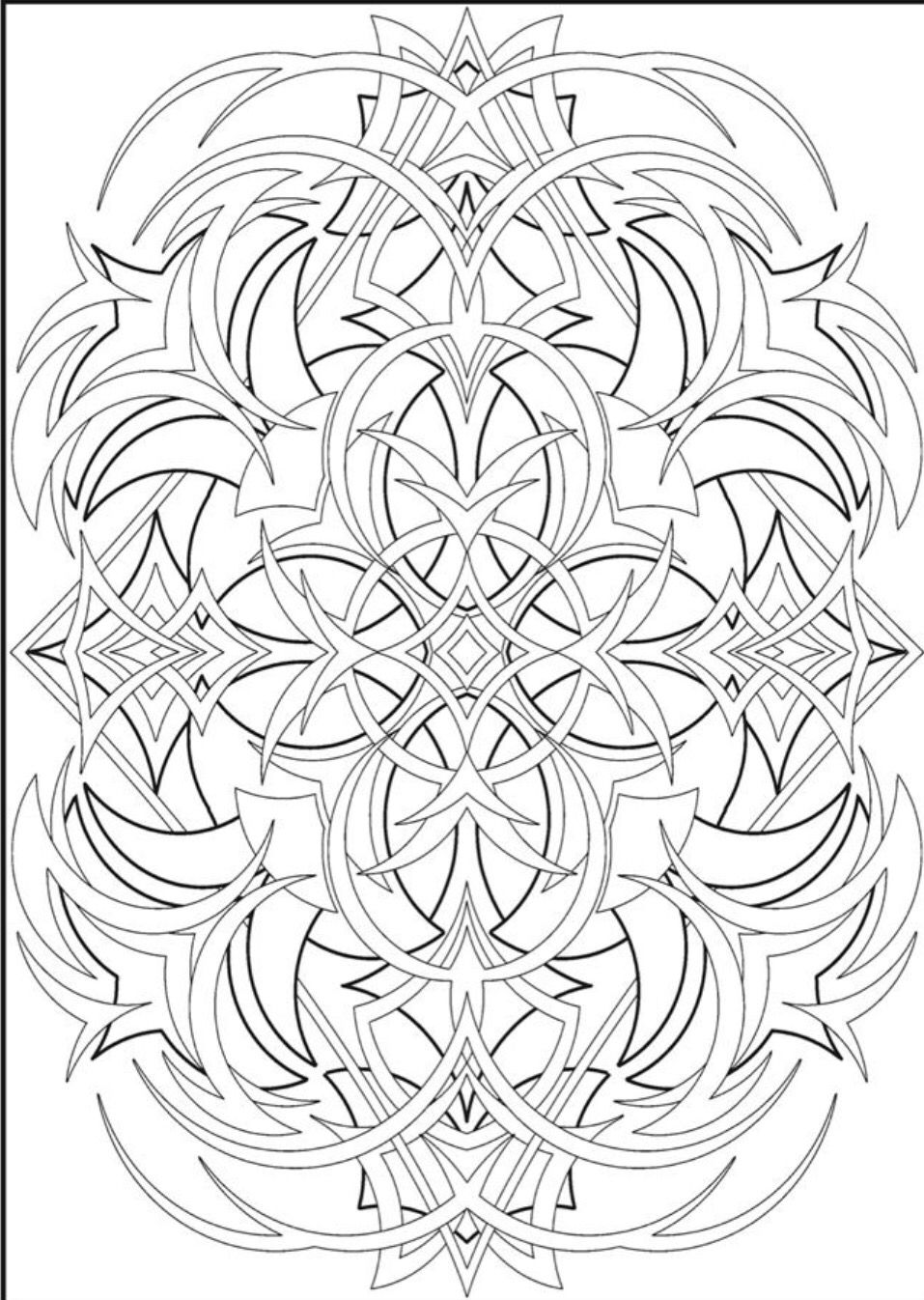 Creative Haven Abstracts Coloring Book Dover