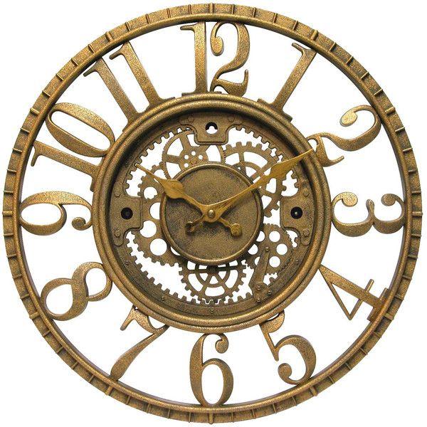 Dot Bo Golden Sprocket Wall Clock Gear Wall Clock Antique