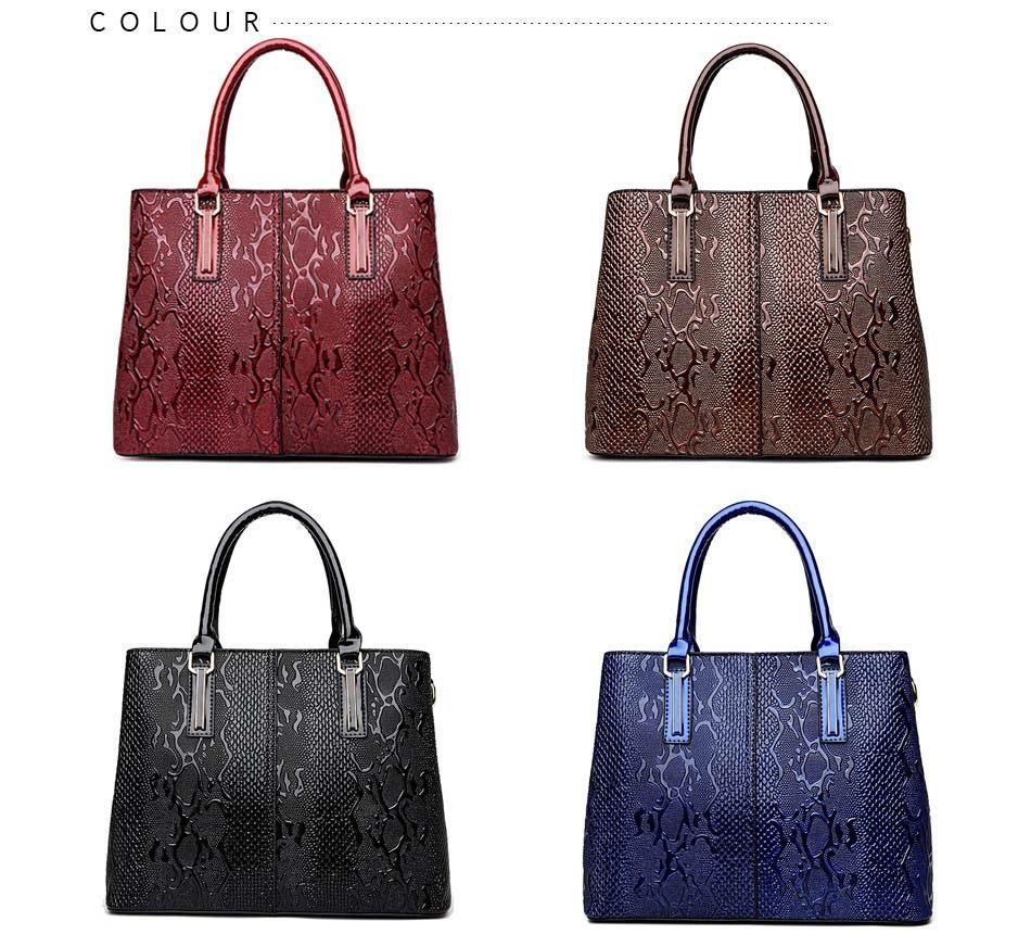 fd6bea2910e6 New Fashion Pu Leather Women Bag Ladies Luxury Snake Shoulder Bags Designer  Handbags High Quality 2018 Spring Ladies Tote Bag Womens Bags Black Handbag  From ...