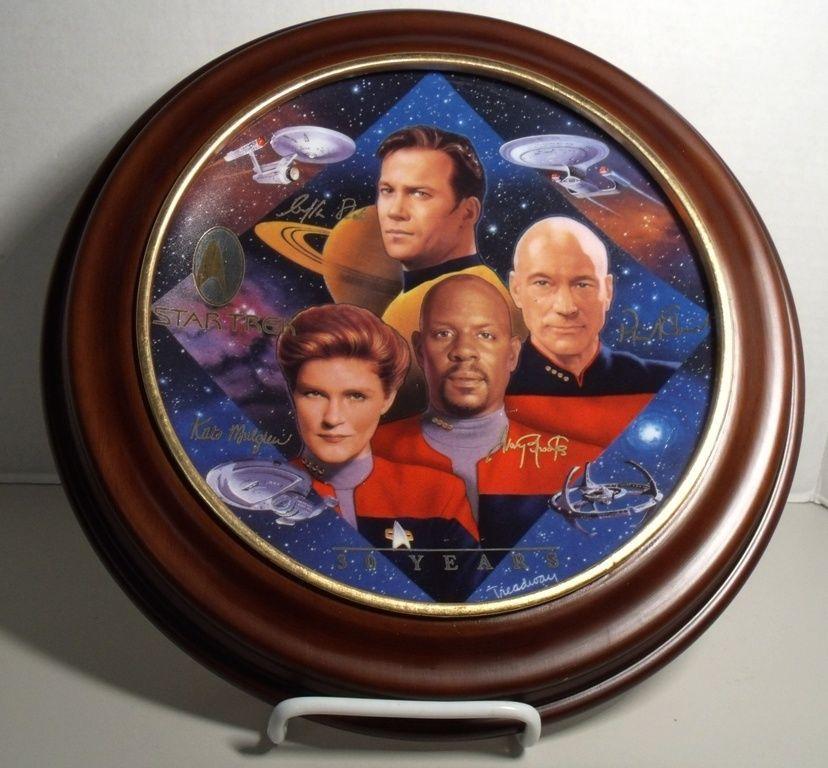 30 years Captain/'s Tribute Hamilton Collection Plate Ltd Ed w//COA Star Trek