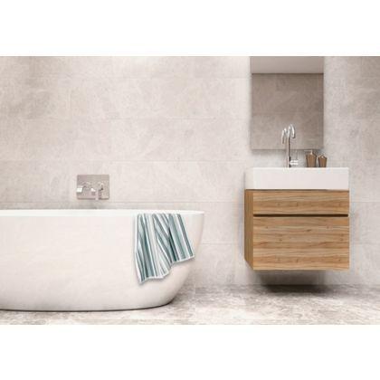 Sienna Ceramic Wall Tile 60 X 30cm White Pack Of 5
