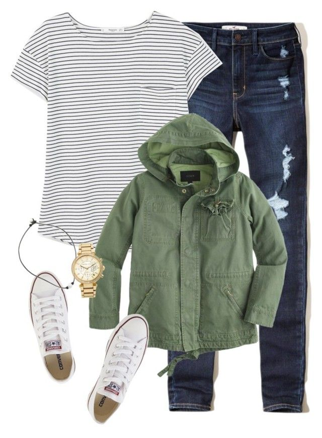 """""""Rip nick"""" by keileeen ❤ liked on Polyvore featuring Hollister Co., MANGO, J.Crew, Converse and MICHAEL Michael Kors"""