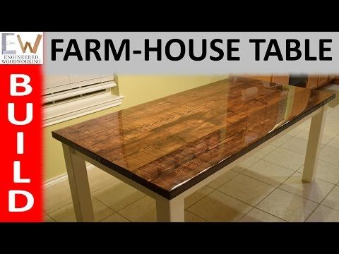 D This Is A Simple Diy Farmhouse Table With An Epoxy Finish Construction Is Straight Forward And Clean Up Diy Farmhouse Table Farmhouse Table Epoxy Table Top