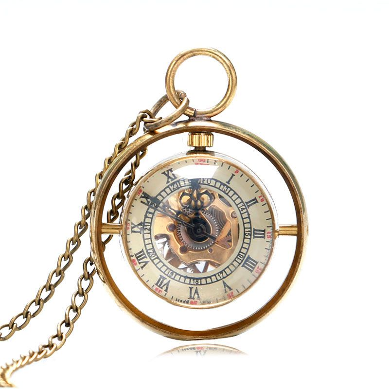 Vintage special whirling fish eyes ball pocket watch hand winding watch faces for jewelry making picture more detailed picture about elegant pendant necklace skeleton steampunk roman number mechanical fob pocket watch aloadofball Gallery
