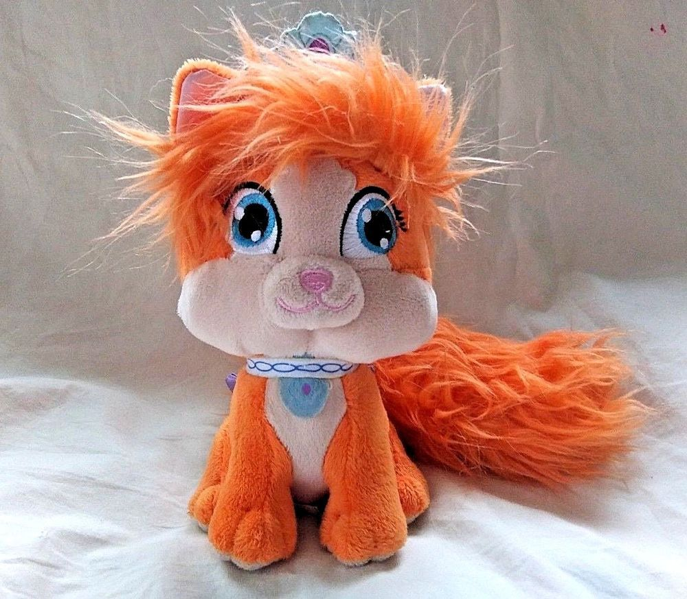 Disney Palace Pets Treasure Orange Kitten Plush Animal Princess