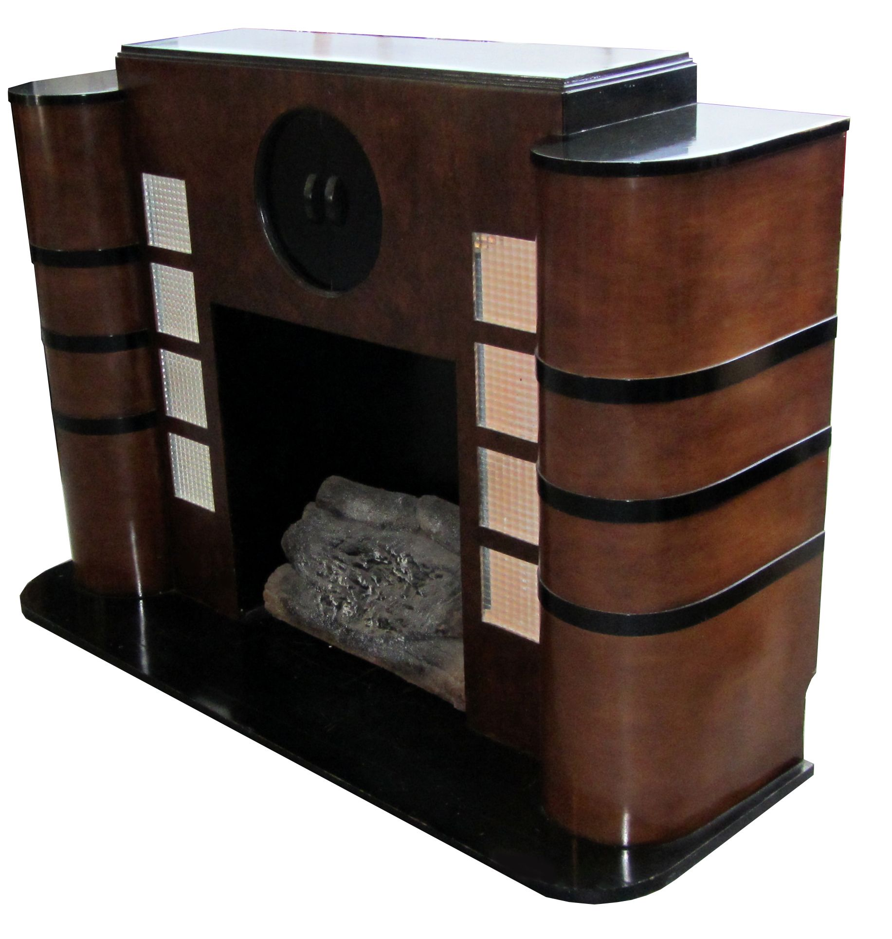 Modern art deco furniture - Cool American Art Deco Streamline Electric Fireplace Idea For Refinishing My Center With Art Deco Furniture