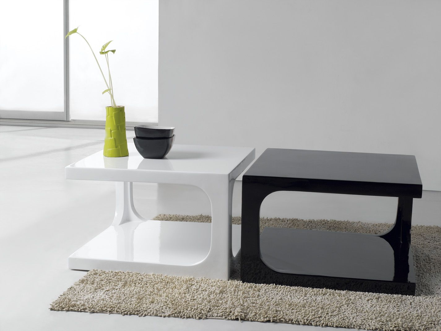 Furniture Modern Black White Wooden Coffee Table With Table Top ...