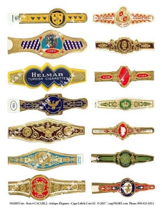 picture regarding Free Printable Cigar Bands titled 210 CIGAR BAND Labels -clean aged inventory cigar bands within 2019