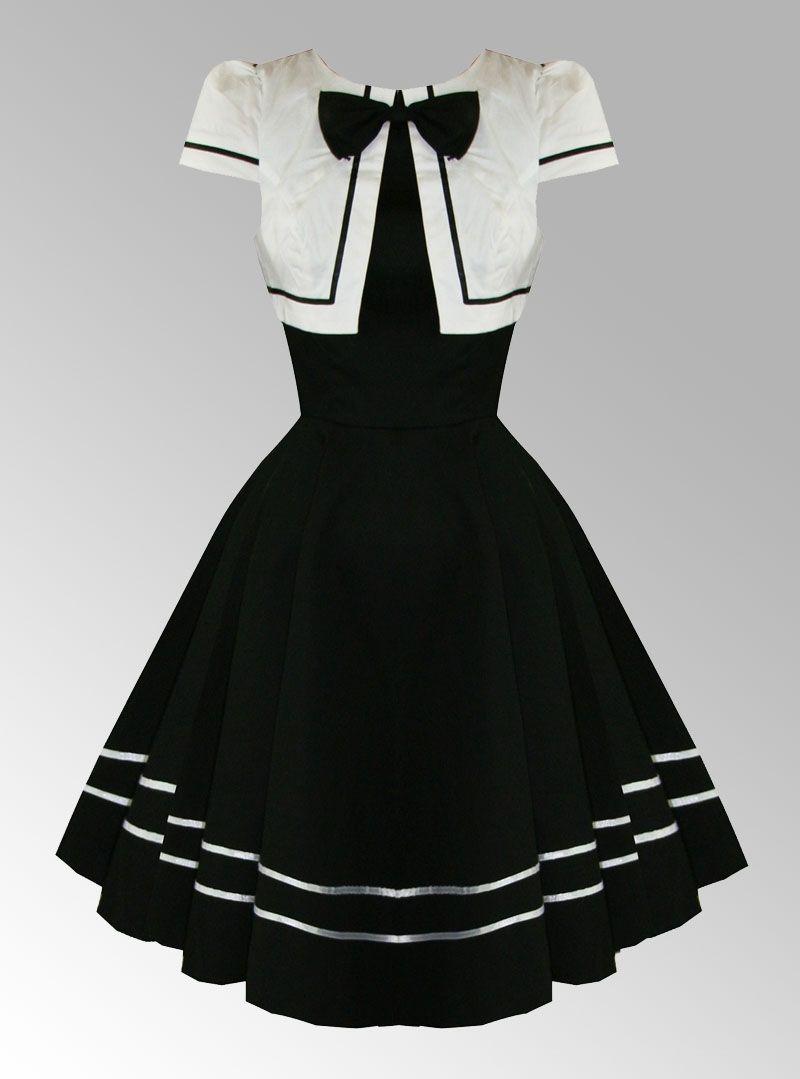 Robe rockabilly noire et blanche