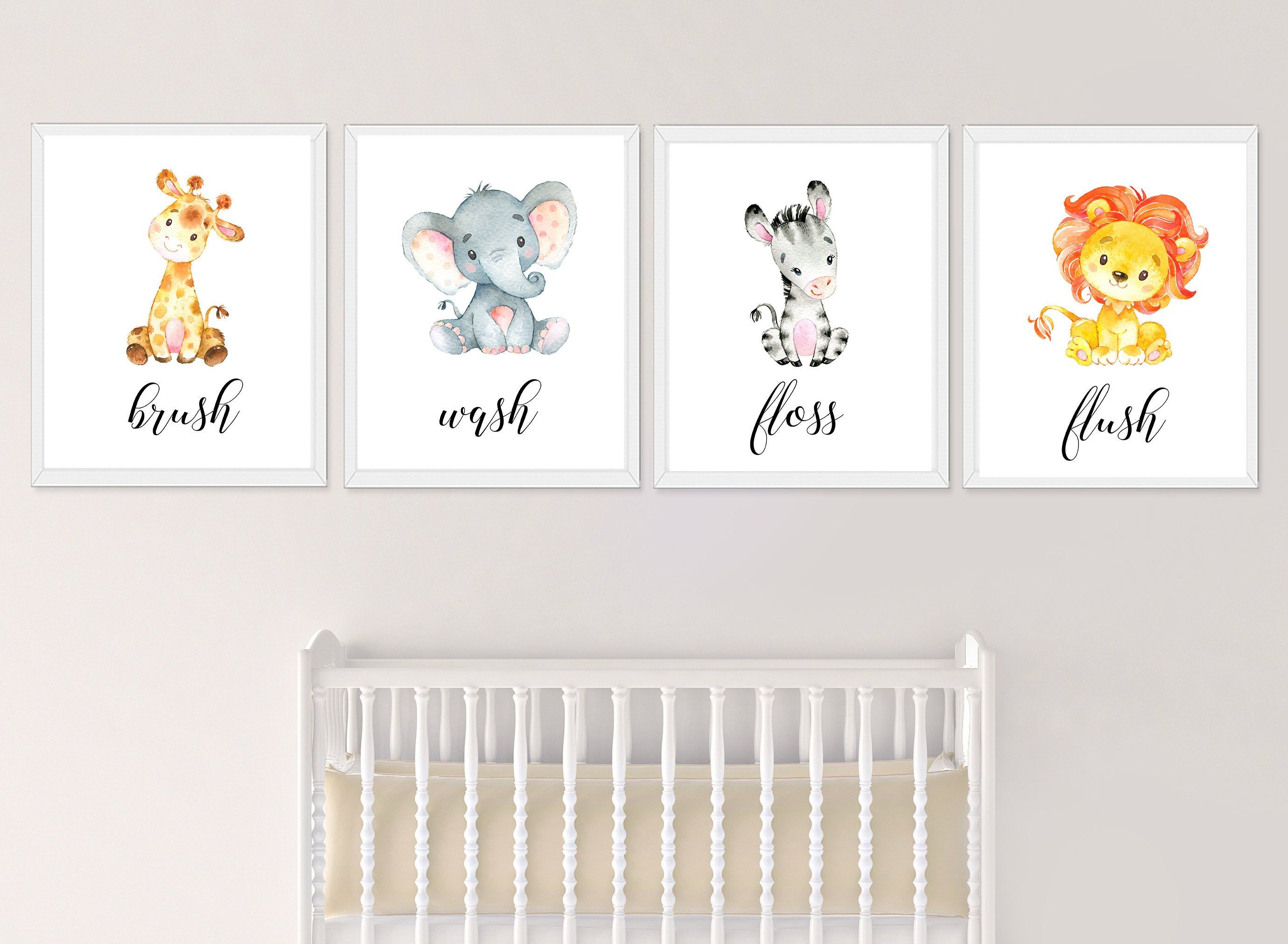 Kids Bathroom Safari Wall Art Safari Bathroom Prints Bathroom Rules For Kids Elephant Bathro Kids Bathroom Wall Kids Bathroom Wall Decor Kids Bathroom Wall Art