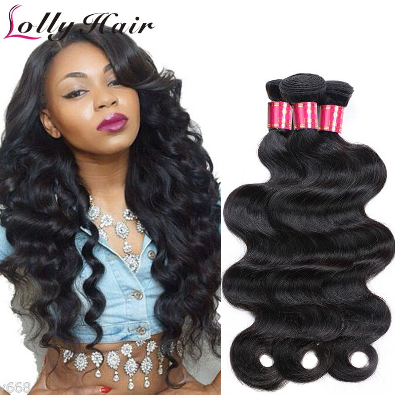 $161.20 (Buy here: http://appdeal.ru/482g ) 7A Quality Indian Virgin Hair Body Wave 100% Unprocessed Human Hair Bundles 10Pcs Lot Body Wave Hair Extensions Natural Color for just $161.20