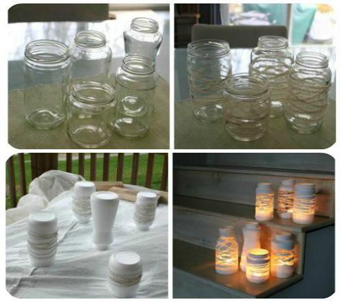 Candele da giardino su pinterest fabbricazione candele - Portacandele fai da te ...
