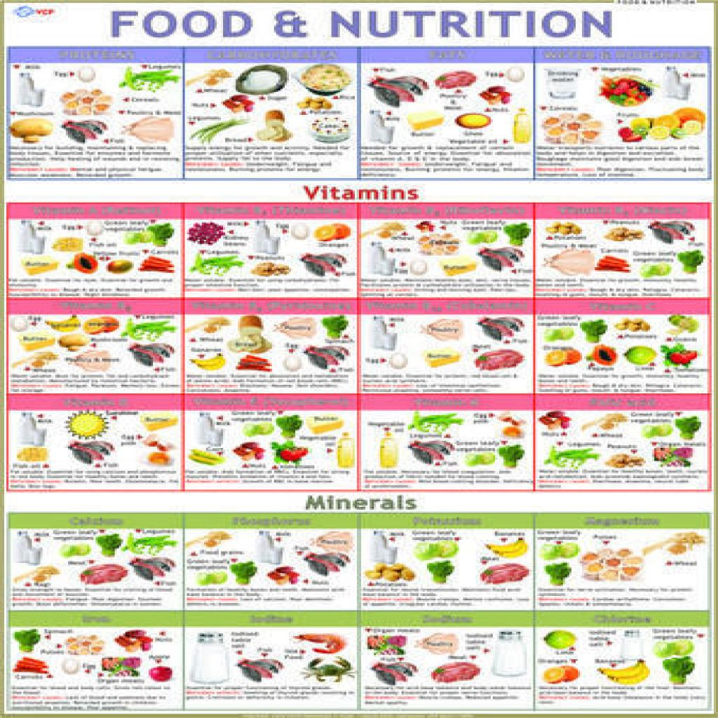 Image for Food Nutrition Chart Nutrition recipes, Vegan